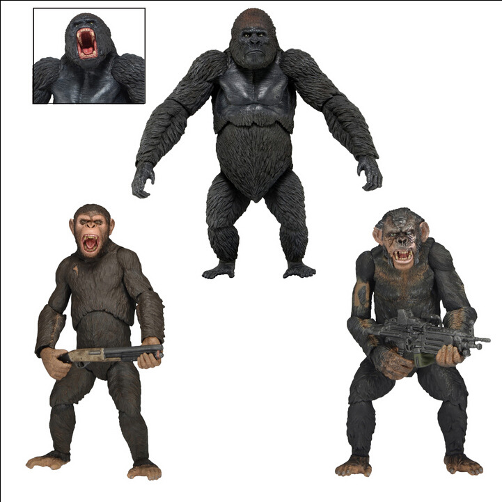 NEW hot 23cm Rise of the Planet of the Apes Caesar Koba collectors action figure toys Christmas gift doll with box guano apes leipzig