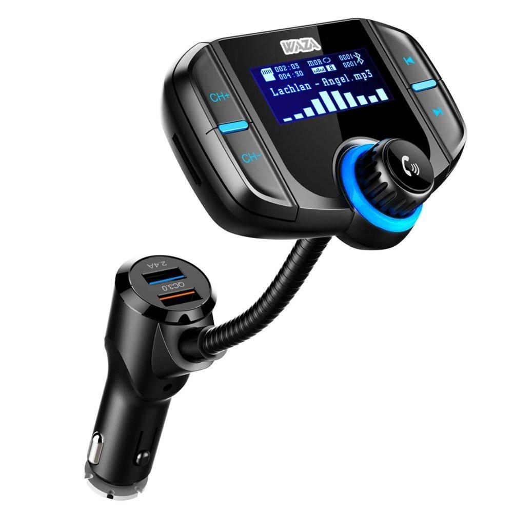 WAZA BT01 Car Bluetooth 4.1 FM Transmitter Quick Charge 3.0