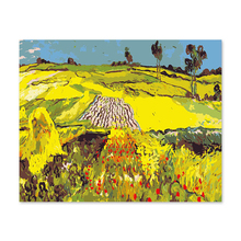 Digital oil color Van Gogh landscape field wheat  paintings by numbers on canvas picture