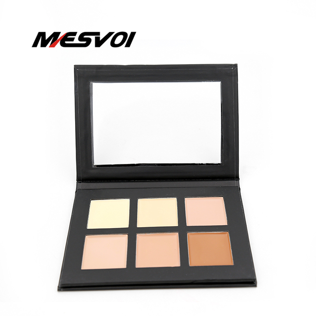 Cream Contour Palette Kit Pro 6 Colors Concealer Makeup Palette 1pcs Concealer Face Primer Net 30g All Skin Types Net 30g