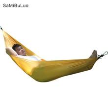 SAMIBULUO Camping Hammock น้ำหนักเบาแบบพกพา Hamac สำหรับเดินป่าท่องเที่ยว Backpacking 20 สีในสต็อก