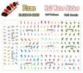 Nail Art (Pieza BLE2215-2225 11 DISEÑOS EN 1) Colorido Pluma Del Arte Del Clavo de Transferencia de Agua Etiqueta Engomada de DIY uñas