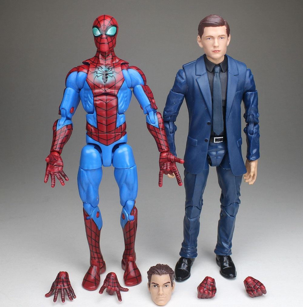 Marvel Legends Avengers Infinity War Spiderman Tom Holland Head Suit Body Figure