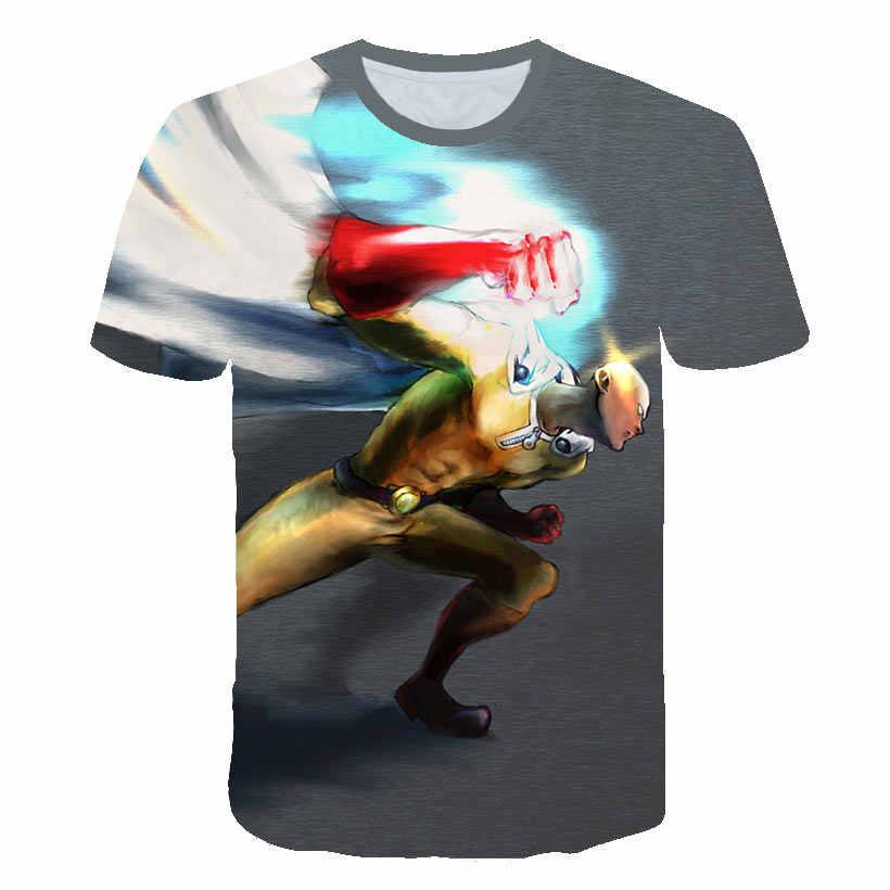 Nova moda um soco homem camisa hoodies anime um-soco homem t camisa 3d dos desenhos animados dos homens camiseta genos saitama cosplay verão tshirts