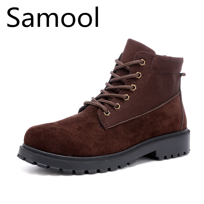 New Fashion Cow Suede Leather Chelsea Boots Men Shoes Handmade Sewing Ankle Botas For Gentlement Winter Footwear Keep Warm QX5 mycolen men boots 2017 winter cow leather snow boots british fashion men shoes men footwear thick bottom rubber ankle boot