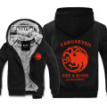 House Targaryen Printing Game of Thrones Thickness Hoodies Adult Baseball Sweatshirts men Winter Jacket Coat M-3XL Big size