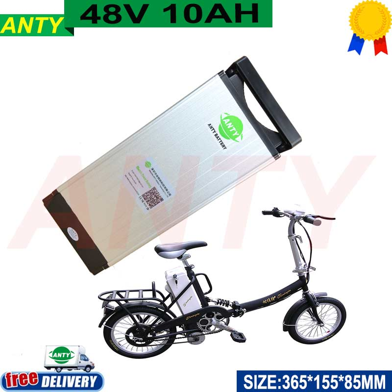 Scooter Lithium Battery 48v 10ah 500w for Kit Electric Bike with 54.6v 2A Charger 15A BMS eBike Battery 48v Free Shipping free customes taxes 48v 2000w electric bike battery 48v 35ah lithium ion battery pack for electric bike with charger bms
