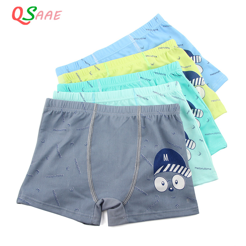 все цены на 5 Pcs/lot Cartoon Boys Underwear Soft Breathable Kids Boxer for 5-12Yrs Baby Panties Kawaii Boy Briefs Underpants