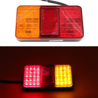 12V 40LED  For Car Trailers Trucks Utes Boats Trailer Truck Rear Lights Brake Stop Tail Turn Indicator LED Lamps 1pc