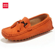 WeiDeng Classic Women Genuine Leather Suede Loafers Moccasin Casual Flats Tassel Smoking Gommino Boat Driving Shoes winter