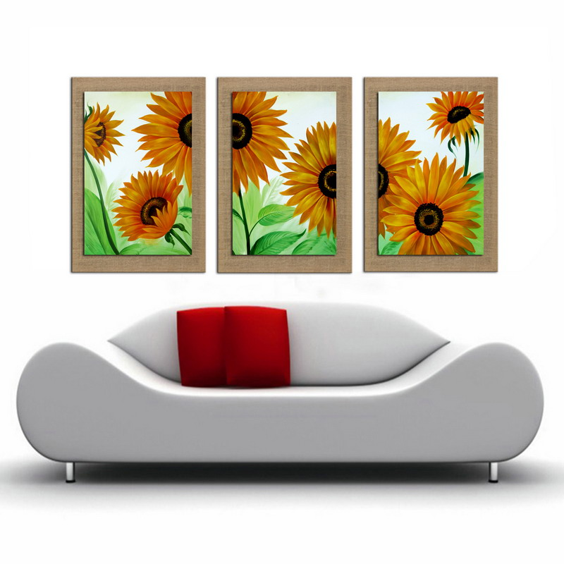 Oil Painting On Linen sun Flower Wall Art for Decoration Natural linen Decor high quality home Painting decor