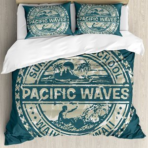 Modern Duvet Cover Set Pacific