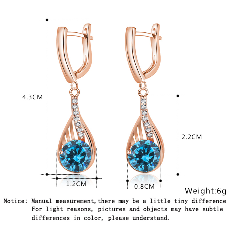 Pink  CZ PS  Dangling Drop with White CZ Earring