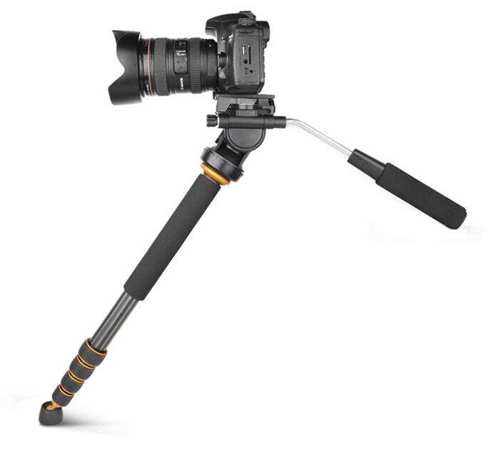 Monopode d'appareil-photo de fibre de carbone de QZSD-Q188C, monopode professionnel portatif de DSLR pour le Canon Eos Nikon DSLR, taille maximum est 1680mm
