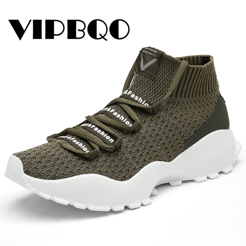 3e431fd448ae2f VIPBQO Autumn Outdoor athletic Hot Sale Running sport shoes for man  Breathable air mesh sock sneakers pink jogging footwear-in Running Shoes  from Sports ...