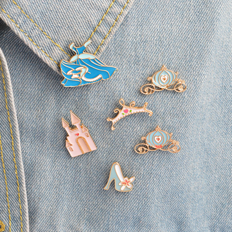 Home & Garden 1 Pcs Fairy Tale Princess Dress Metal Brooch Button Pins Denim Jacket Pin Jewelry Decoration Badge For Clothes Lapel Pins Be Friendly In Use Arts,crafts & Sewing