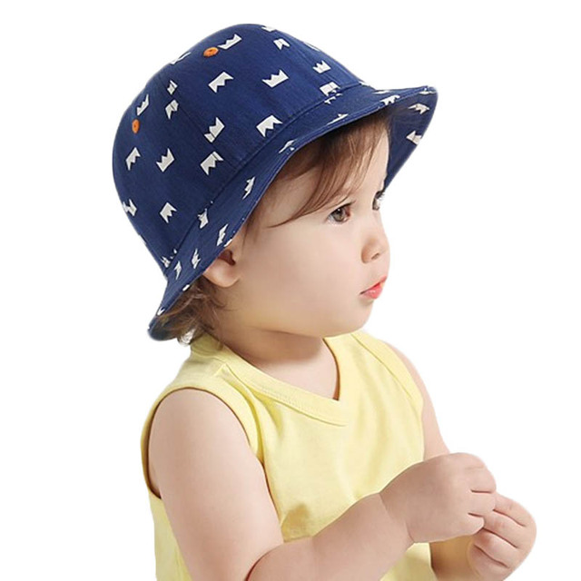 0b2000fde8ee1a Fashion Baby Girls Boys Sun Hat Kids Outdoor cowboy Bucket Hat Sunshade Beach  Caps Crown Floral Printed Children Fisherman Cap
