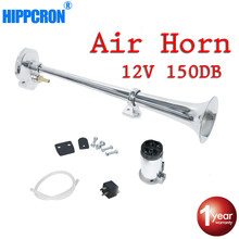 Hippcron Air Horn 150DB 12V Super Loud Single Trumpet Compressor Complete Set for Trucks Cars Automobiles Lorry Boat Train(China)