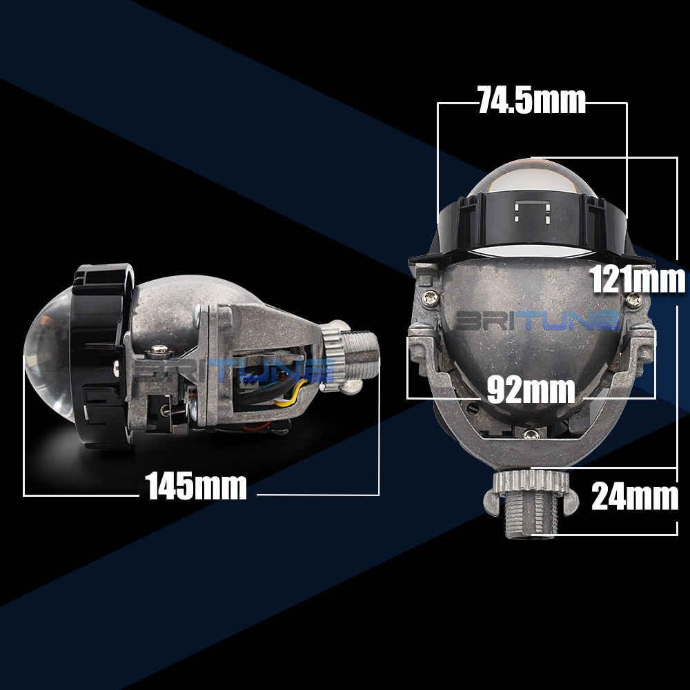 Auto voitures bi-projecteur LED lentilles H1 9005 9006 H4 H7 lampes LED pour phare voiture-style rénovation Hi/Lo faisceau lentille accessoires