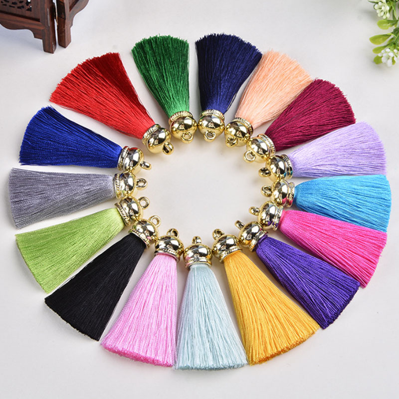 wholesale fashion top quality 36pcs/lot Artificial Silk Tassel Charm Necklace Earring Tassels DIY Jewelry Finding accessories