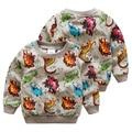 El dinosaurio bebé suéter 2017 otoño versión Coreana de la nueva del ocio del muchacho de los niños de manga larga chaqueta wt-6390