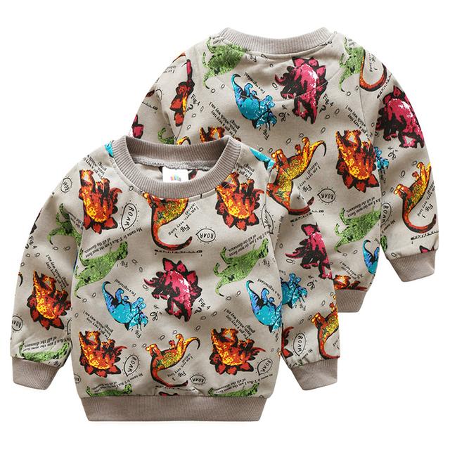 O dinossauro bebê camisola 2017 outono versão Coreana do novo das crianças do menino lazer jaqueta de manga comprida wt-6390