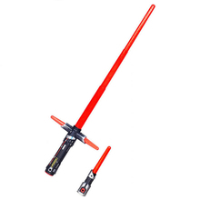 105cm Star Wars 7 The Force Awakens Kylo Ren LED sound lightsaber scalable Cosplay Darth Vader Action Figure Toys boy's Gift