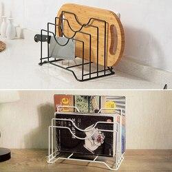 Bandeja de aço inoxidável rack prateleira placa corte titular armazenamento pote tampa organizador estandes tapas capa prato cozinha rack