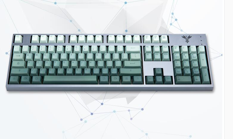 Dye sub 104 PBT keycaps for mechanical keyboard thick PBT keycap cherry mx OEM 104 poker 61 keyboard ANSI dye sub print цена