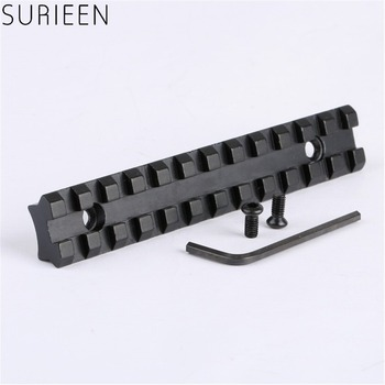 цена на Tactical Dovetail Weaver Picatinny Rail Scope Mount Base with 20mm Mount 125mm Length and 12 Slots of Hunting Gun Accessories