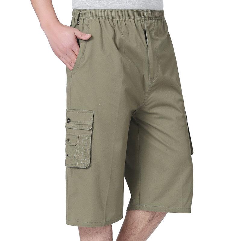 Cargo Shorts Degli Uomini Di Estate Casual Allentato Shorts Complessivo Di Combattimento Militare Baggy Multi-tasca Tattico Shorts Più I Pantaloni Di Formato