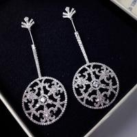 Dangle Earrings Thời Trang Đơn Giản Cho Phụ Nữ Neo Hình Dạng Cá Tính Tròn Xoắn Ốc Earrings Phụ Nữ Bridal Phụ Đồ Trang Sức Phụ Kiện