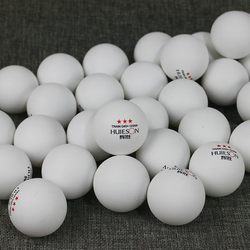 Huieson 50 Pcs/Pack 3 étoiles nouveau matériel balles de Tennis de Table 40 + ABS plastique balles de Ping-Pong accessoires de Tennis de Table