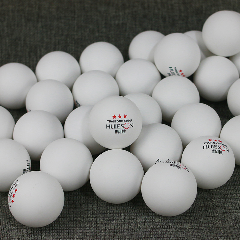 Huieson 50Pcs/Pack 3 Star New Material Table Tennis Balls 40+ ABS Plastic Ping Pong Balls Table Tennis Accessories