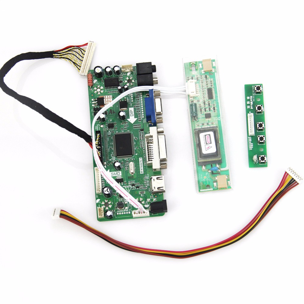 M.NT68676 LCD/LED Controller Driver Board(HDMI+VGA+DVI+Audio) For LQ170M1LA04 1920*1200 LVDS Monitor Reuse Laptop