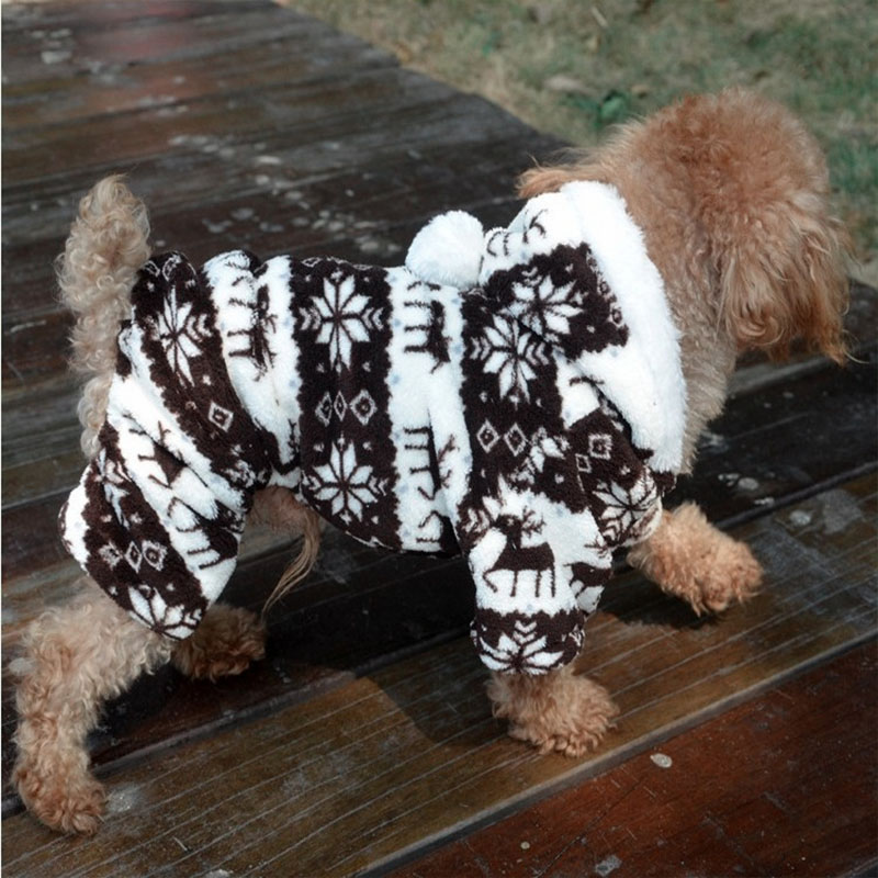 Winter Dog Clothes For Small Dog Soft Fleece Pet Dog Clothing Yorkies Chihuahua Clothes Puppy Outfit Coat Hoodie S XXL 30S1