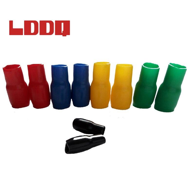 LDDQ 25pcs 5colors Terminal connector Soft Sleeve Insulation Crimp terminal Wire terminal car End caps #V120-125