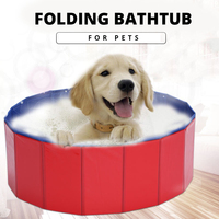 idYllife PVC Pet Bathtub Folding Basin for Dogs Cats Puppy Kitten Shower Swimming Pool House Bed Strong Bathing Washing Teddy