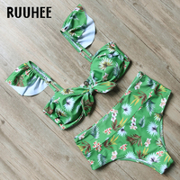 RUUHEE New Design Bikini Swimwear Women Swimsuit 2017 High Waist Bikini Set Bathing Suit Beachwear Push
