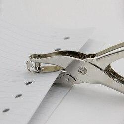 Школьный офис Металл одно отверстие Дырокол ручной Дырокол для бумаги одно отверстие Скрапбукинг Дырокол 8 страниц все металлические матер...