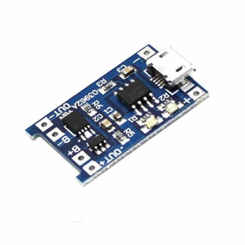 100 шт. Micro USB 5 В 1A 18650 TP4056 литиевых Батарея Зарядное устройство модуль зарядки доска с защитой двойной функции