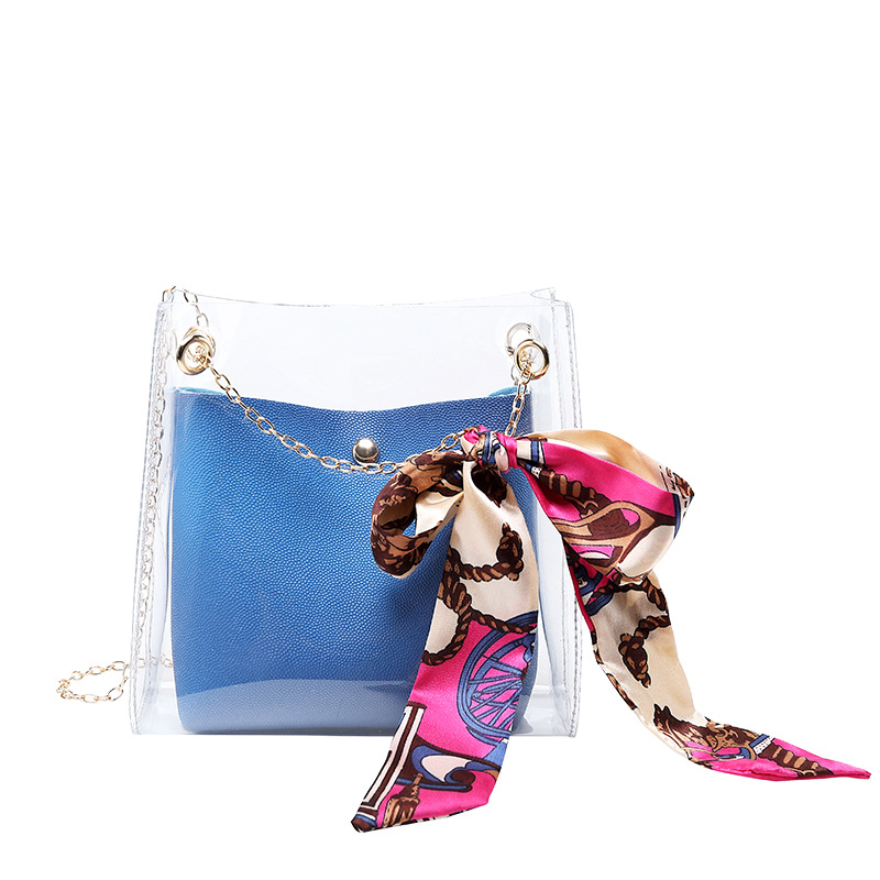 2019 Brand Fashion Small Shoulder Bag Women Small Crossbody Messenger Bucket Bag Teenage Girls Sling Bag With Scarf Tie For Lady