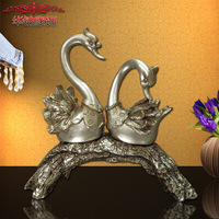 2016 Top Fashion Home Decoration Accessories And American Furniture Wholesale Resin Crafts Romantic Wedding Gift Swan Ornaments