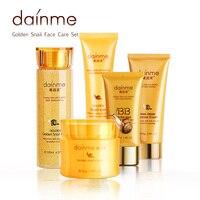 dainmei 24 k זהב חילזון סט & מהות טיפוח עור קרם קרם עיניים קרמים bb טיפוח פנים ניקוי פנים טונר & 5 יחידות סט