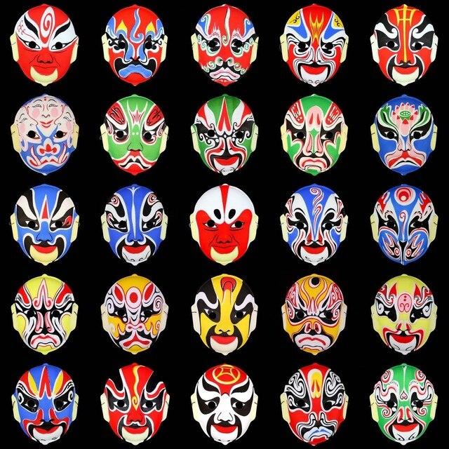 Beijing opera mask a30 chinese style peking opera mask peking opera mask flock printing beijing opera mask