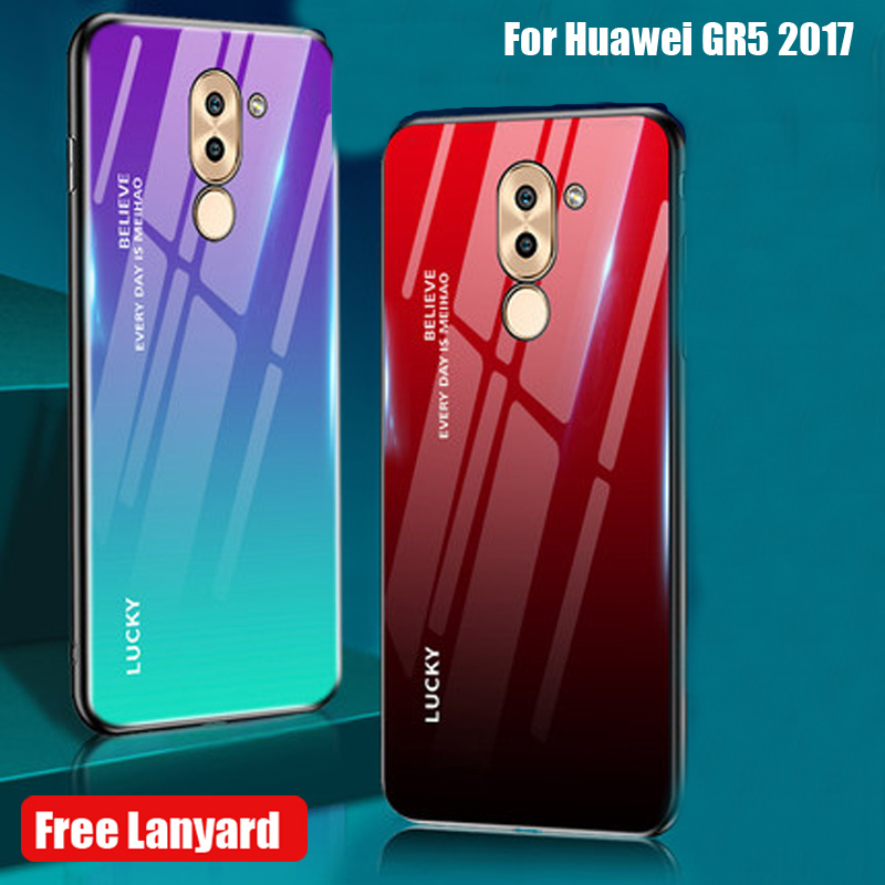 Tempered Glass Case For Huawei GR5 <font><b>2017</b></font> Case Cover For Huawei <font><b>GR</b></font> <font><b>5</b></font> <font><b>2017</b></font> GR52017 soft Silicone Phone Protercted Back Cover image