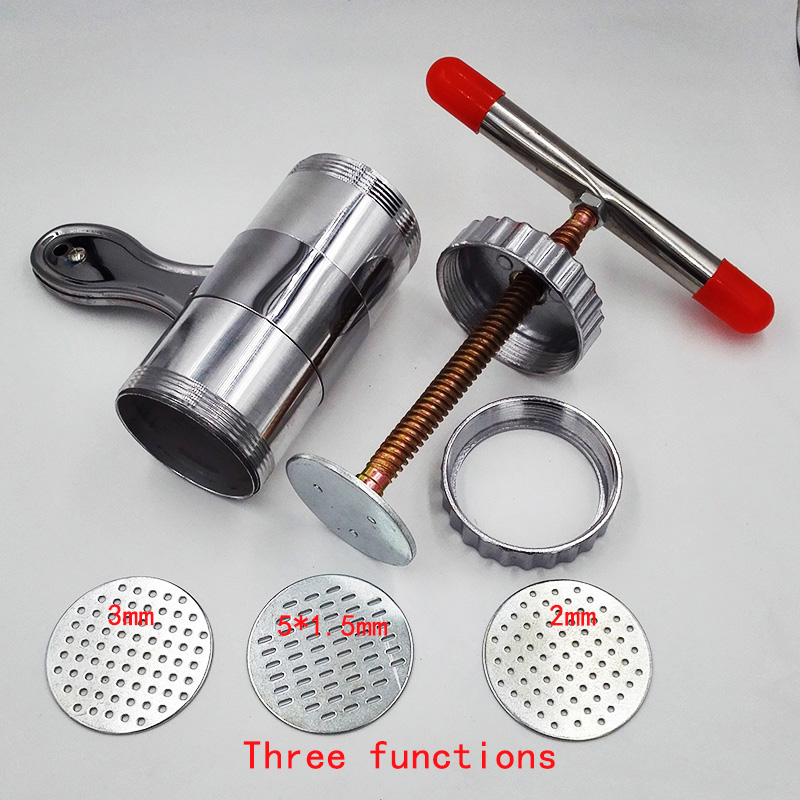 Manual Noodle Maker Kitchen Pasta Spaghetti Press pates Machine Vegetable Fruit Juicer Pressing Machine Stainless Steel ...
