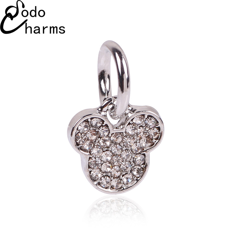 frete-gratis-1-pc-europeia-prata-cristal-mickey-heanband-pendurado-afl-peandant-bead-dangle-charme-serve-pulseiras-charme