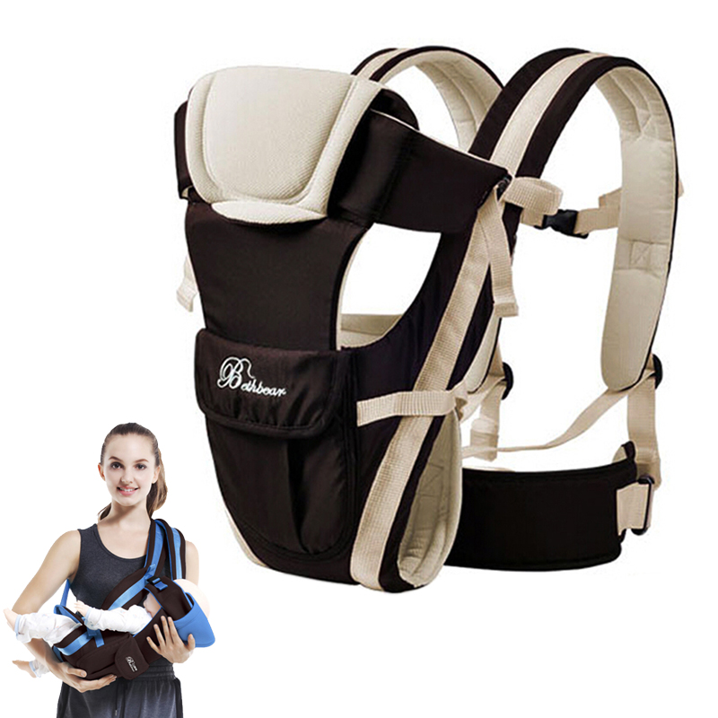2-30 Months Breathable Multifunctional Front Facing Baby Carrier Infant Comfortable Sling Backpack Pouch Wrap Baby Kangaroo ice cream cart toy