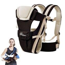 Beth-bear, от 0 до 30 месяцев, воздухопроницаемая, передняя сторона, детская переноска, 4 в 1, для младенцев, Удобный слинг, рюкзак, сумка-кенгуру, нов...